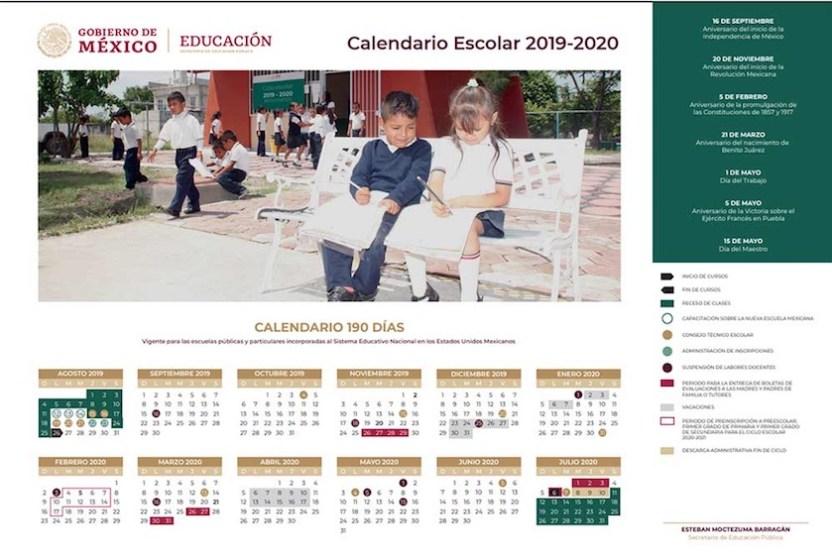 calendario SEP - SEP presenta calendario escolar 2019-2020, que prioriza la convivencia