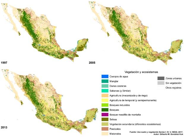 ambiental mapa - Déficit naturam y los retos para la conservación ambiental en México