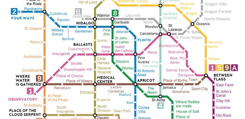 metro ingles - ¡De Green Indians a Child Heroes! Traducen mapa del Metro al inglés