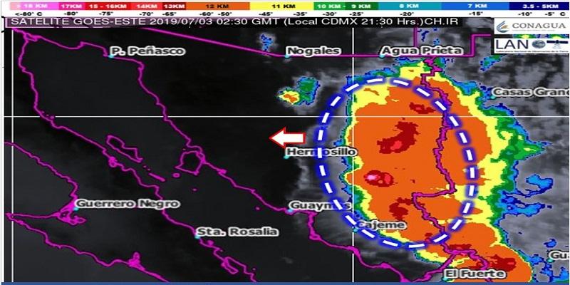 lluvias 1 - Lluvias fuertes e ingreso de onda tropical 12 en Yucatán