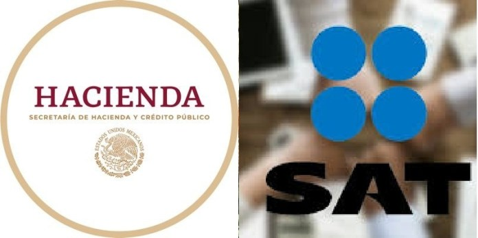 logos SAT, Hacienda, México,