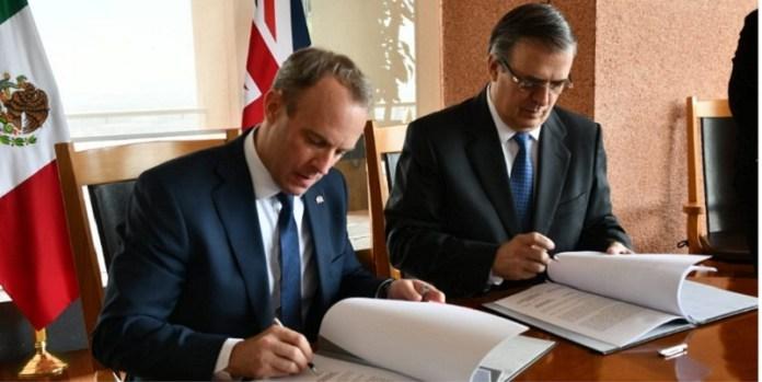 Reino Unido y México, firma acuerdo