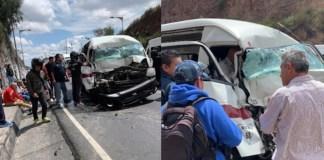Al menos 10 pasajeros heridos tras choque en la México-Pachuca