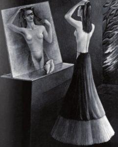 Retrato de Frida frente al espejo (1946)