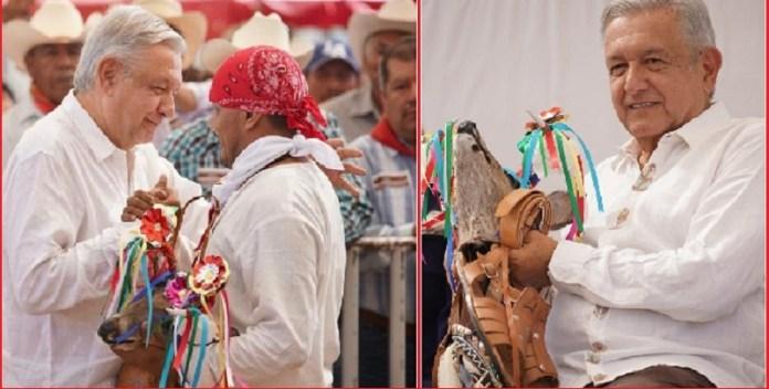 Mayos reciben a AMLO