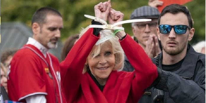 Jane Fonda, desobediencia civil ante cambio climático