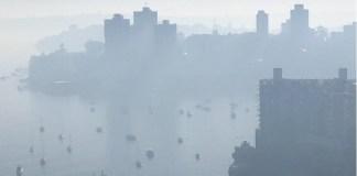 Sidney, Australia, cubierta de humo por incendios