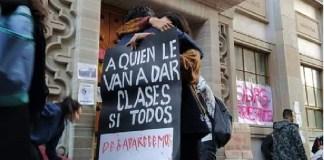 Guanajuato, estudiantes protestan por violencia
