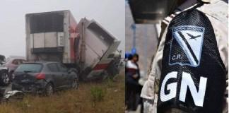 Guardia Nacional y Sedena en accidente de Monterrey
