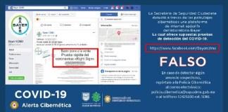 SSC alerta falso sitio de pruebas Covid