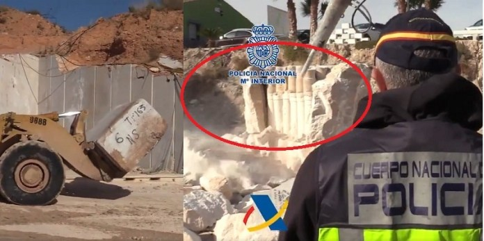 Guardia Civil descubre sustancias ilícitas en mármol