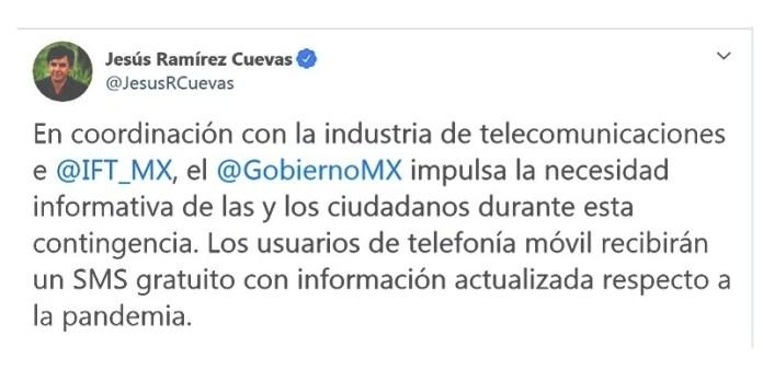 Covid, habrá SMS del gobierno
