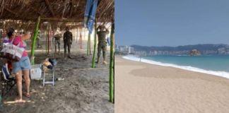 Desalojan a turistas de Acapulco, las playas lucen más limpias