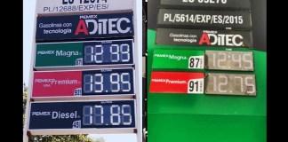 Gasolina más cara y más barata al norte