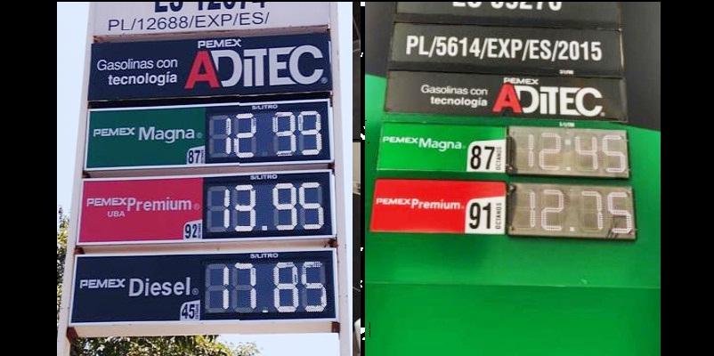 gasolina - Gasolina regular más cara $20 y más barata $13 en el norte