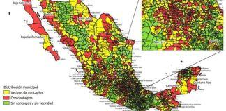¿Cuáles son los municipios afectados por Covid en México?