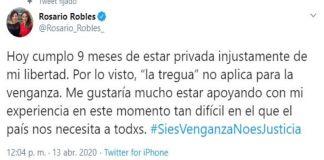Encarcelada, Rosario Robles ofrece 'su experiencia' para enfrentar Covid