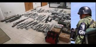 Incautan arsenal en Tamaulipas