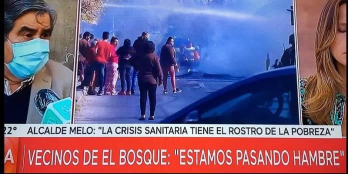 Protestas por hambre en Chile