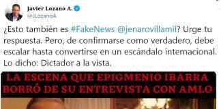 Derechista Javier Lozano se luce con falso video