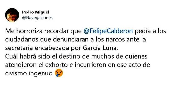 Denunciar al narco con el narco, García Luna, en tiempos de Calderón
