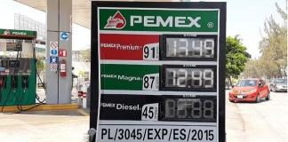 Precios gasolina, mayo del 2020