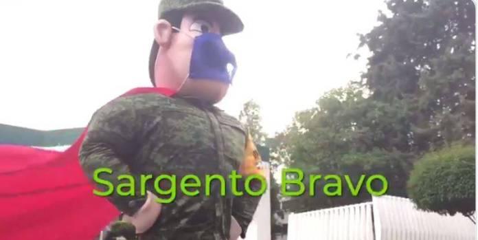 Sedena lanza al personaje Sargento Bravo, lucha por el Covid-19