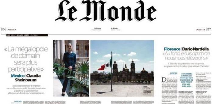 Sheinbaum en Le Monde  - 'La megalópolis del mañana será más participativa'; Sheinbaum a Le Monde