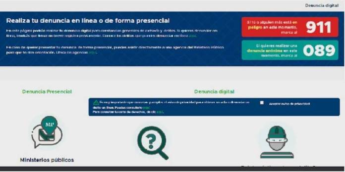CDMX Denuncia digital en linea