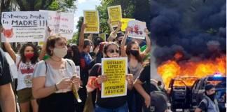 Fuertes protestas y represión en Jalisco
