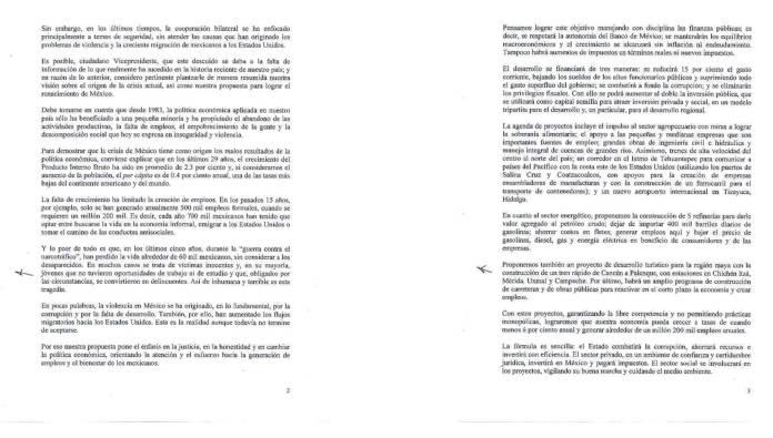 Carta de AMLO al Vicepresidente Joe Biden 2012 Reforma Migratoria 02