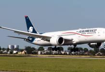 Aeroméxico suspende todos sus vuelos a Canadá hasta el 30 de abril