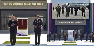 AMLO devela placa e inaugura base militar del Felipe Ángeles (fotos)
