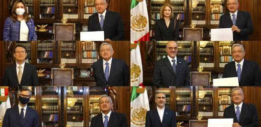 AMLO recibe a los nuevos embajadores extranjeros en México