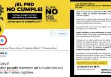 Balconean al PRD con su propia cuenta: no paga a trabajadores de redes
