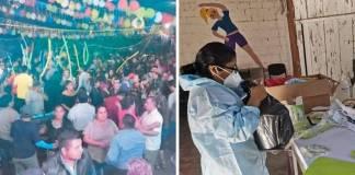 Fiesta masiva causa brote de Covid en Oaxaca