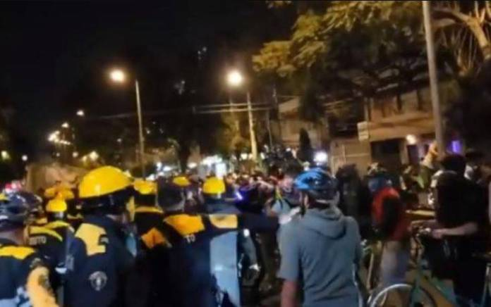 Retiran de su cargo a 11 elementos de la SSC por confrontación con ciclistas