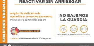 CDMX sigue en semáforo naranja; comercios podrán abrir a las 9 am