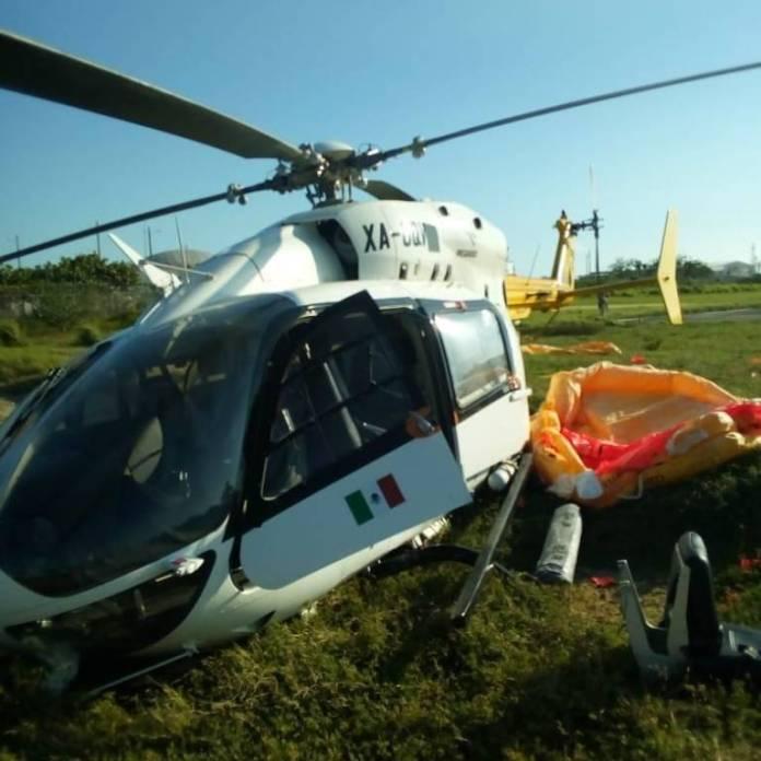 EwNwhpjWQAIzQRA - Helicóptero se desplomó en puerto de Dos Bocas