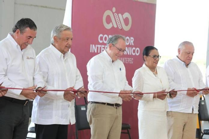 Inaugura AMLO ampliación del puerto Coatzacoalcos