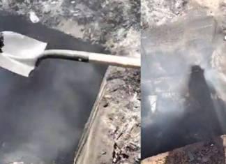 Hallan restos humanos ardiendo en horno clandestino