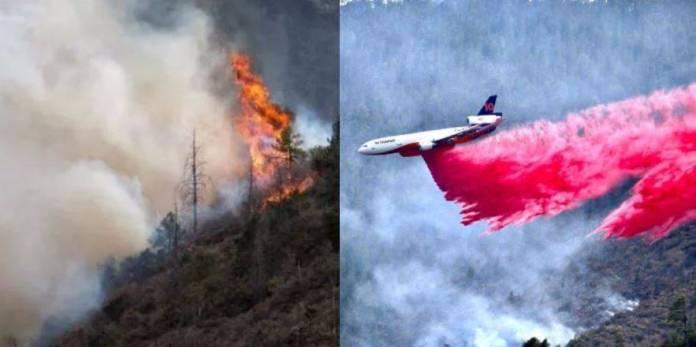 Sedena bombardea nubes para apagar incendios en NL y Coahuila