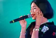 Tunden en redes a Angela Aguilar tras su interpretación Himno Nacional