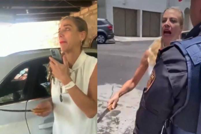 Viralizan arresto de #LadyMiguelHidalgo por amenazar con un cuchillo