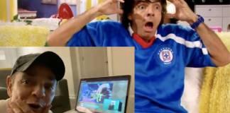 Al estilo de Ludovico P. Luche, Eugenio Derbez celebra la victoria del Cruz Azul