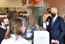 Biden compra tacos y enchiladas en restaurante mexicano