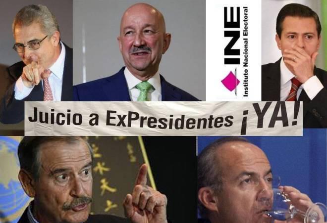 INE no quiere realizar consulta popular para enjuiciar a expresidentes
