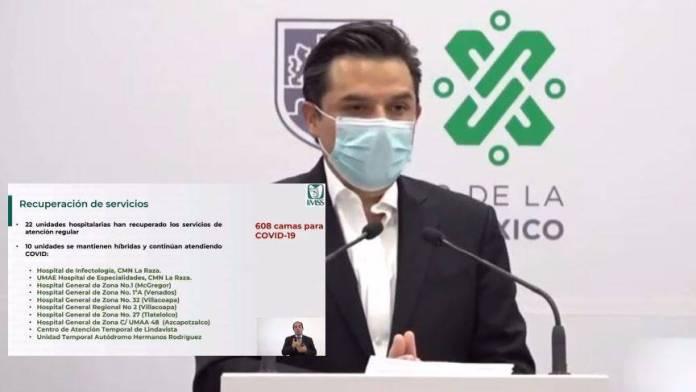 Inicia desconversión hospitalaria tras reducción de casos de Covid: IMSS