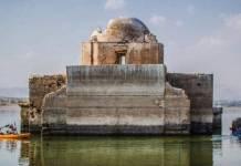 Sequía deja al descubierto iglesia hundida en Guanajuato