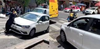 Detienen a conductor que atropelló a oficial para evitar multa